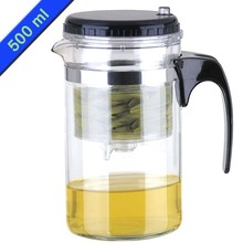 Promotion New 500ml Glass Tea Set High-quality Teapot Integrative and Convenient Office Tea Pot New Year Gift from China