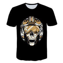 2018 Skull&Flower 3D bird Printed t shirt Men Women tshirt Summer Funny Short Sleeve O-neck Streetwear Tops&Tees Drop Ship(China)