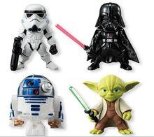 New 4pcs/Lot Star Wars The Force Awakens Darth Vader Anakin Skywalker PVC Model Action Figure dark warrior Clone Trooper Toys