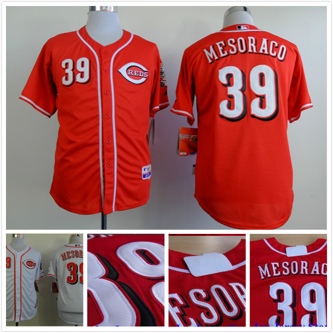 Fast Free Shipping Cincinnati Reds Jersey 39# Devin Mesoraco  Jersey  Embroidery Baseball Jersey 3757<br><br>Aliexpress