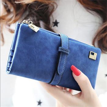 2015 Brand 6Colors Fashion Lady Bags Women Wallets PU Handbags Leather Purse Long Popular Card Holder Brand New J417