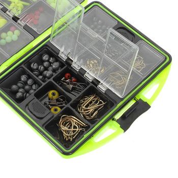 Assorted Fishing Fish Tackles Swivels Lures Snap Jigs Beads Hooks Box 166g GZ2 Free Shipping