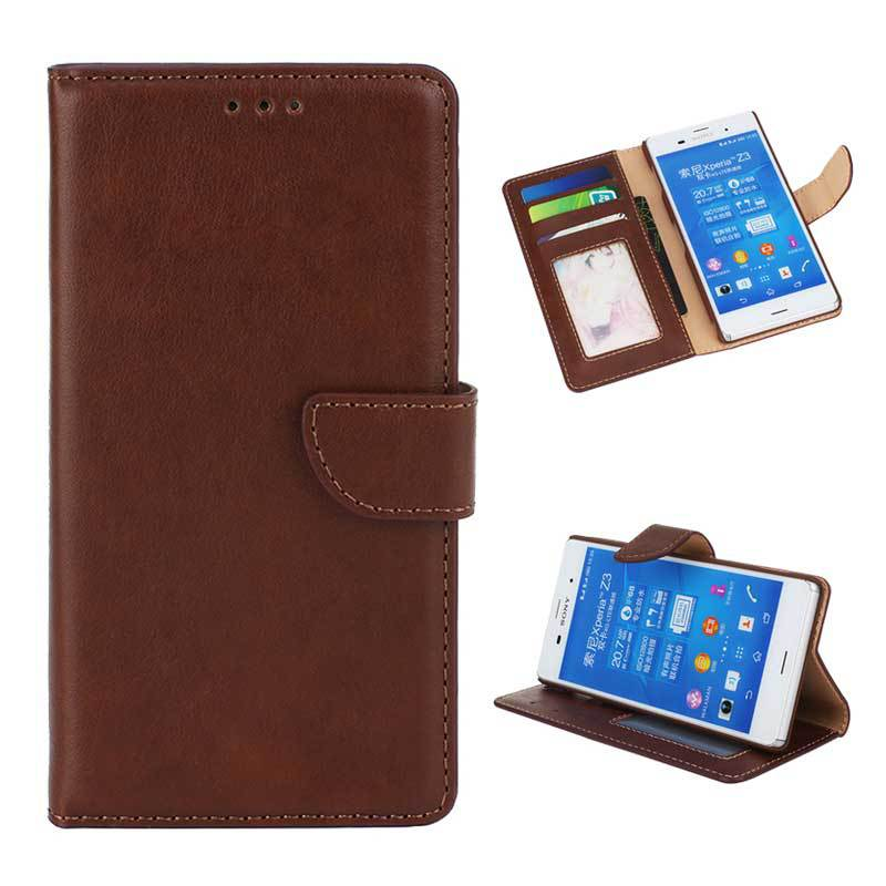 Wallet Flip Leather Case With Stand Card Slot & Photo Frame sFor Sony Xperia Z1 Case For Sony Xperia Z1 Funda Phone Bags(China (Mainland))