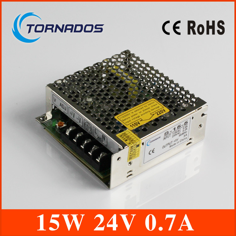 ( S-15-24) Professional switching power supply 15W 24V 0.7A manufacturer 15W 24v cctv power supply transformer(China (Mainland))