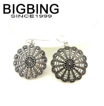 Bigbing ювелирные изделия мода старинные полые цветок серьги высокое качество никель бесплатно Tl082