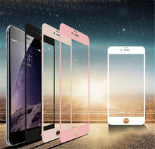 4pcs mix color Hot Sale Full Cover Tempered Glass Film Screen Protector Guard Cover For iPhone 6 4.7″ rose gold black white