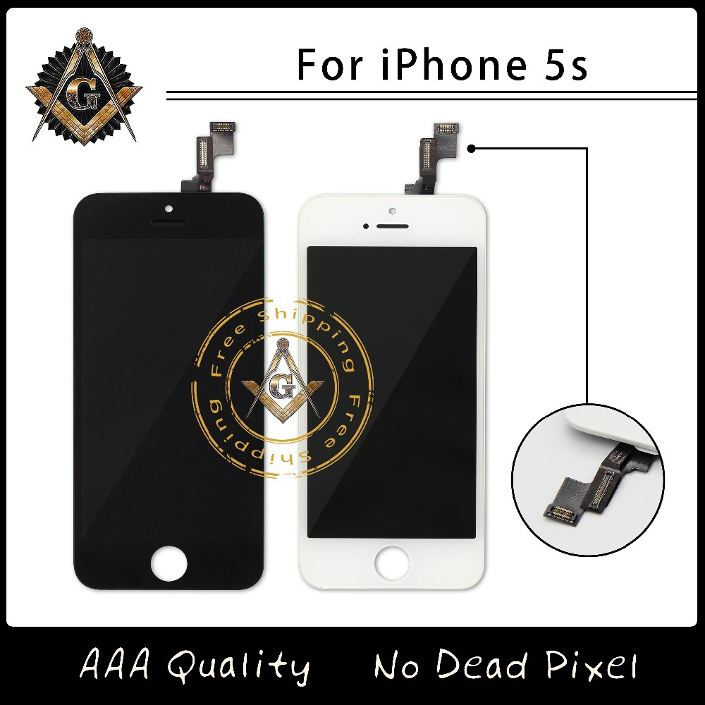 20PCS/LOT Brand New Original AAA Quality Screen For iPhone 5S LCD Test One By One Free Shipping Via DHL