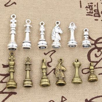 99Cents 1sets Charms chess Hollow Antique charms,Zinc alloy pendant fit,Vintage Tibetan Silver Bronze,DIY for bracelet necklace