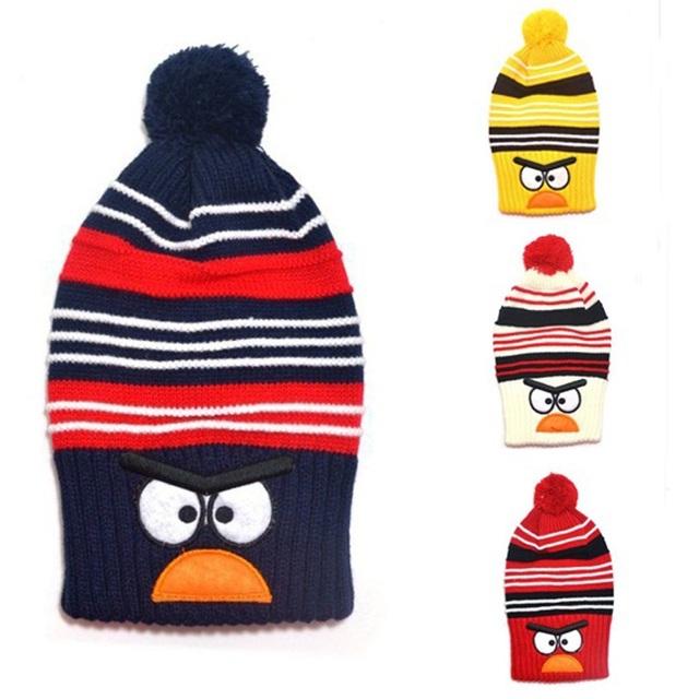 Новая Мода Ребенка зимой вязаная шапка Птица дизайн Мальчики девочки Теплую шапку Дети животных шляпы Прекрасный benaies 1 шт. H526