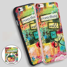 Buy Everything Will Ok Phone Ring Holder Soft TPU Silicone Case Cover iPhone 4 4S 5C 5 SE 5S 6 6S 7 Plus for $2.24 in AliExpress store