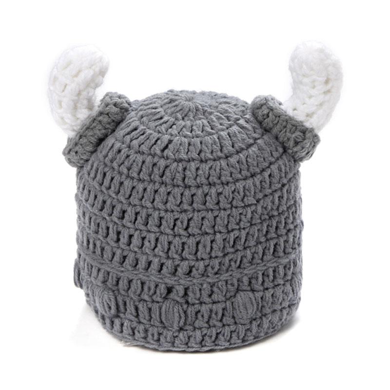 Winter Warm Cute Toddler Kids Girl Boy Baby Infant Crochet Knit Ox Horn Hat Cap Beanies Accessories(China (Mainland))