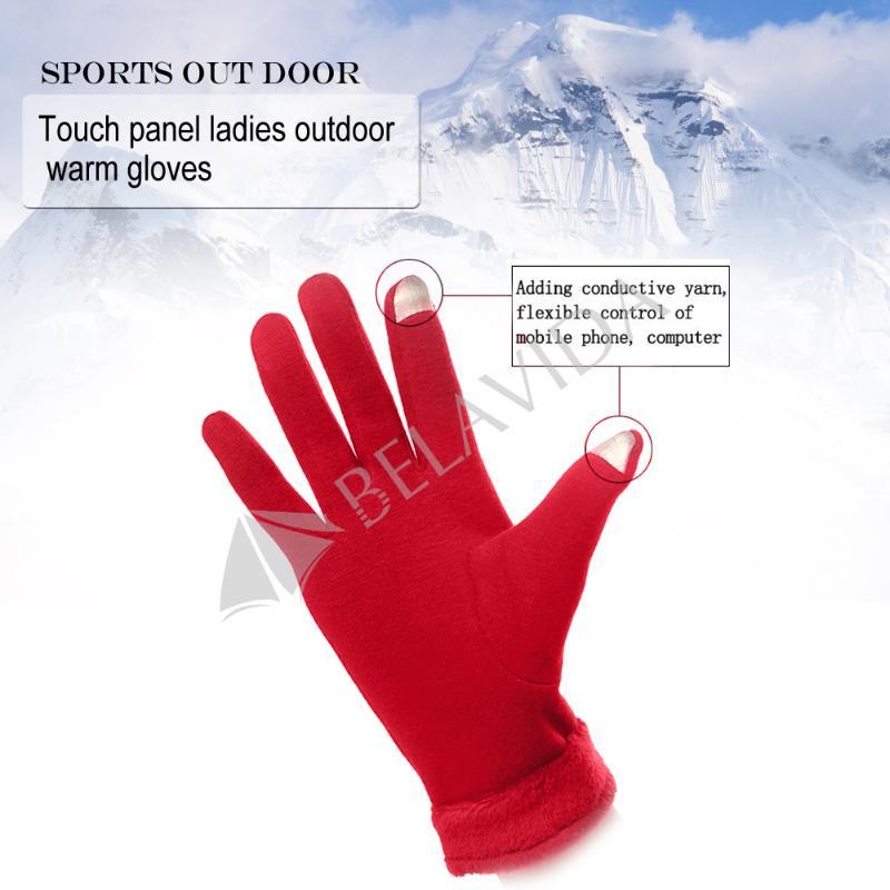 Women's Warmer Fingerless Touch Screen Gloves For Smart Phone Tablet Full Finger(China (Mainland))