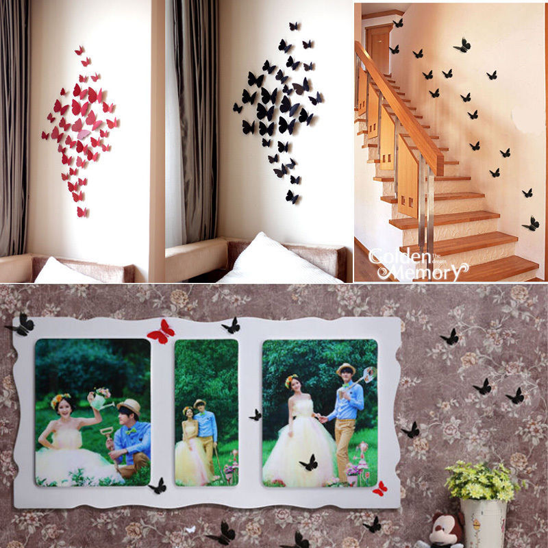 Buy 12 pcs 3d wall sticker stickers for 3d room decoration