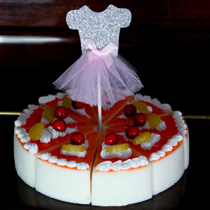 Hot Style 5cm Ballet Dress Cupcake Topper Baby Shower Wedding Birthday Decoration Baking Dessert Cake topper(China (Mainland))