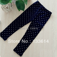 Black Kid Gilrs Polka Dot Soft Tights School Stretch Pant Trousers 2 8Y Free Drop Shipping