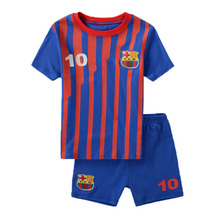 2015 Brand New Summer Style 2 To 7 Years Baby Boy Girl Soccer Clothing Sets 2Pcs