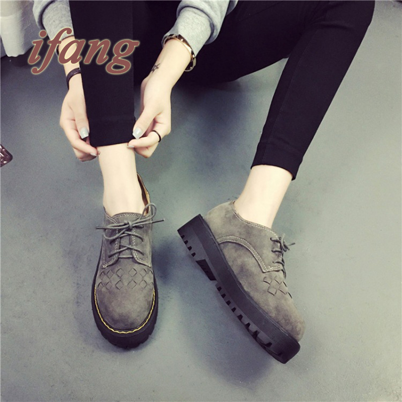 2016 Spring Star With Single Shoes Woman Casual Shoes Flat Shoes Lace Female Thick Crust Loafers Fashion Women Shoes