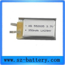 Liter energy battery 552035 small enough capacity 350mah A super discount products 3.7V(China (Mainland))