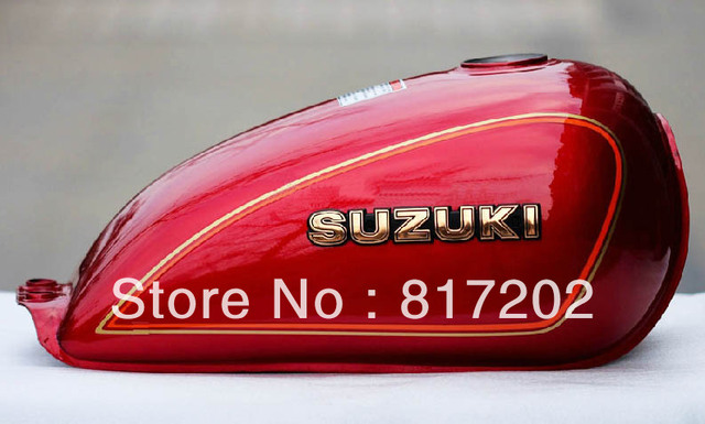 NEW OEM QUALITY GN250 GN 250 FUEL ( PETROL GAS ) TANK, RED with LETTER Emblem