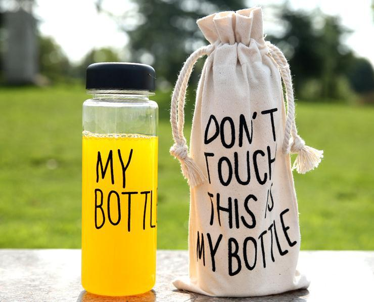 With bags 2015 Hot sale 500ml Plastic Fashion cheap sport my bottle lemon juice space cup Drinking Water bottles AA008(China (Mainland))