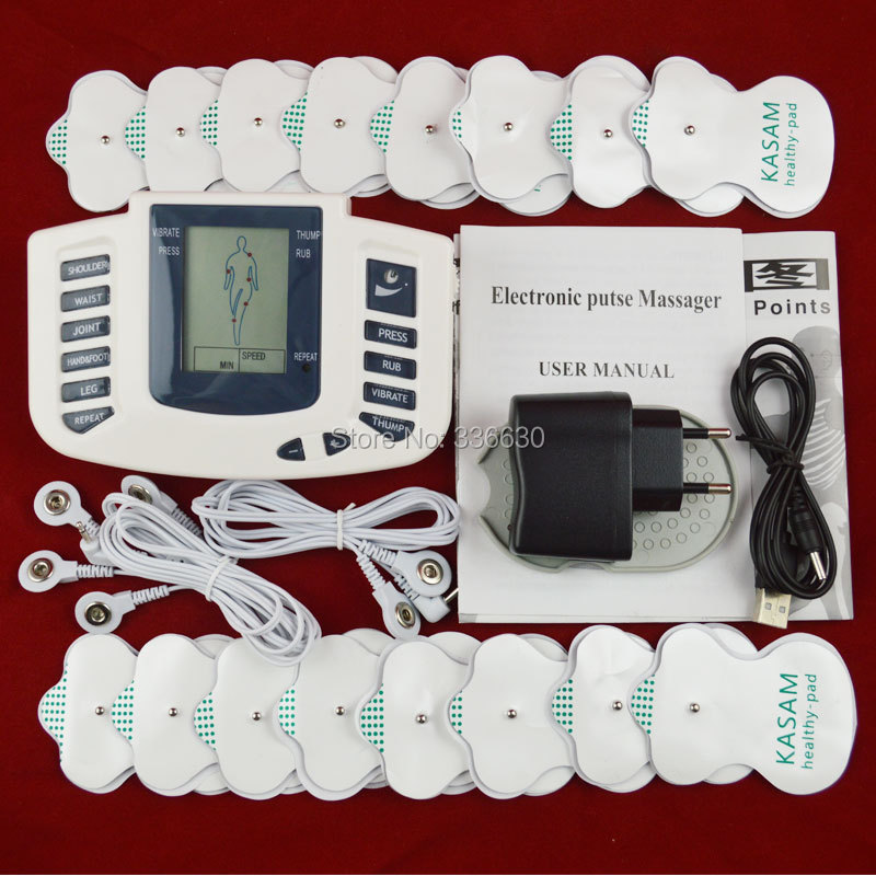 Electric Body Massager Relax Muscle Therapy Massage Machine Tens Acupuncture Health Care Slimming relaxing Full body 16 pads(China (Mainland))