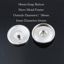 50 sztuk/partia gorąca sprzedaż 12 MM i 18 MM i 20 MM metalowe zatrzaski dla wykonaj nadruk szkło przystawki lub rhinestone zatrzaski DIY armatura ZM032(China)