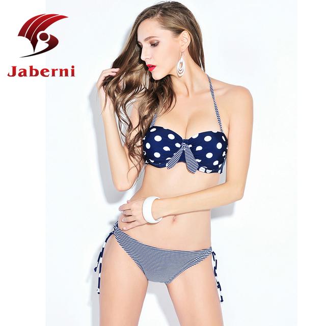 2016 сексуальный летом росту комплект бикини горошек симпатичные купальник Pin Up заниженной талией купальных костюмов горячая распродажа женщины сексуально Biquini
