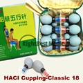 HACI 18 cups Magnetic Acupressure Magnetic Suction Cupping Set Chinese Medical Vacuum Cupping Massage therapy Body