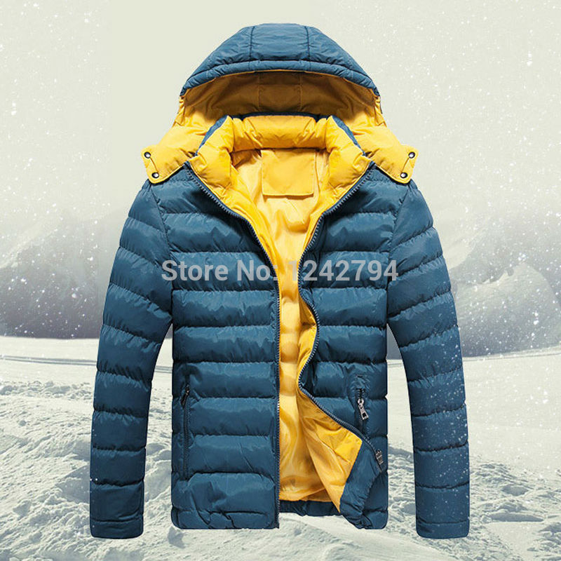[ELITE] 2015 Men's Winter Jackets Cotton-Padded Jackets Wadded Thermal Hood Outdoor Warm Down Parkas Windproof Waterproof Coat(China (Mainland))