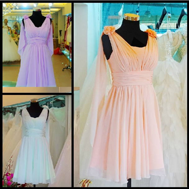 2015 plus size lilac apple green bridesmaid dresses knee for Knee length fitted wedding dresses
