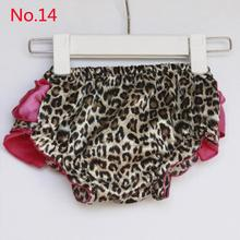 2016 New Newborn Girl Satin Ruffle PP Pants Baby Kid Leopard Bowknot Bloomers Skirt