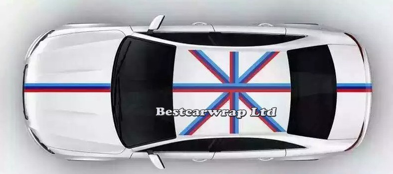 car decals strip type france italy bmw germany flag 3 color graphics car wrapping vinyl design (19)