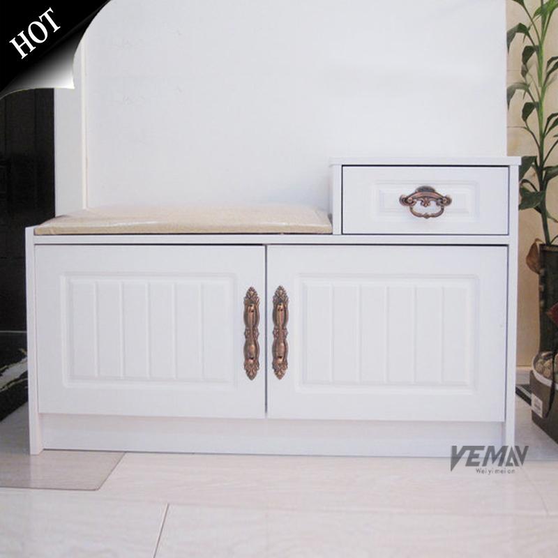 Dull paint change a shoe stool damping hinge fashion shoe paint rustic fashion change a shoe stool furniture