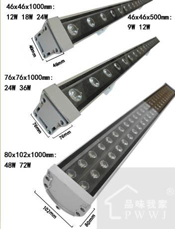 Фотография 36X1W 1Metre IP65 Outdoor Flood Wall Washer Light Lamp CE RoHS Waterproof Outdoor Project Lamp