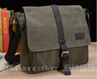FREE SHIPPING Messenger Style Fashion Casual bag Men's School Canvas Shoulder Bag for School College Students Men's vintage bag(China (Mainland))