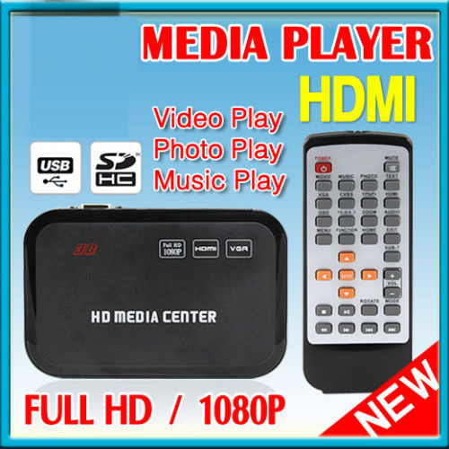 Original H6w Full HD Media Center 1080p Portable Multimedia Player Supports USB Host, Free shipping + Drop shipping(China (Mainland))