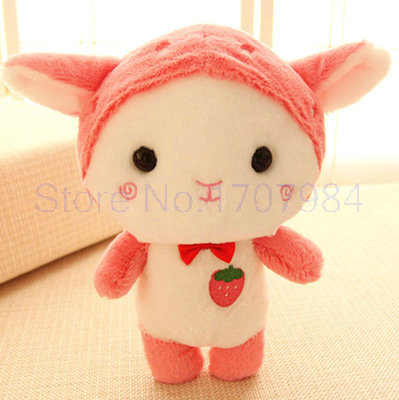 25/30cm kawaii Strawberry Sheep plush toys plush cloth doll kids toys pillow cushion birthday gift(China (Mainland))