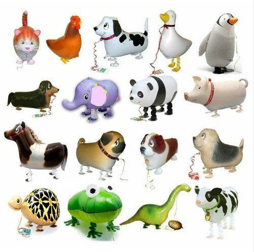 (Au111)Free Shipping 10pcs/lot Walking Pet Balloon Hybrid Models of Animal Balloons Children Birthday Party Toys Boy Girl Gift(China (Mainland))
