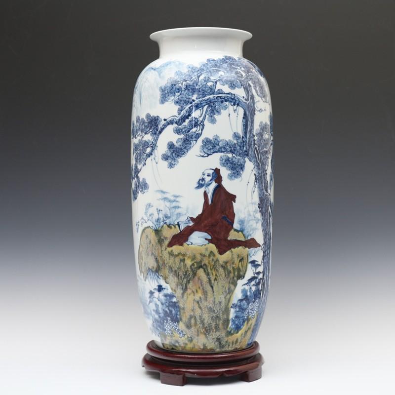 Big floor Chinese ceramic vase Jingdezhen Porcelain Art ...