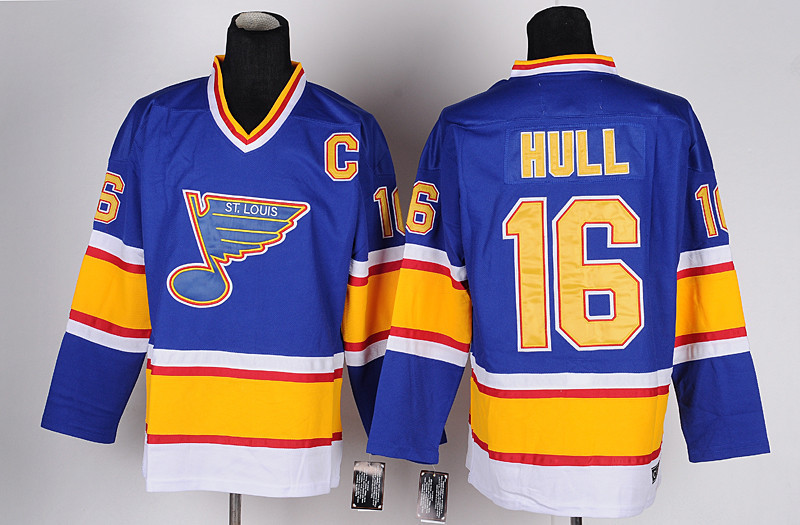 Anthentic #16 Brett Hull St.louis Blues jersey Hull Hockey Jerseys Throwback Cheap Brett Hull Jersey NAVY BLUE Stitched(China (Mainland))