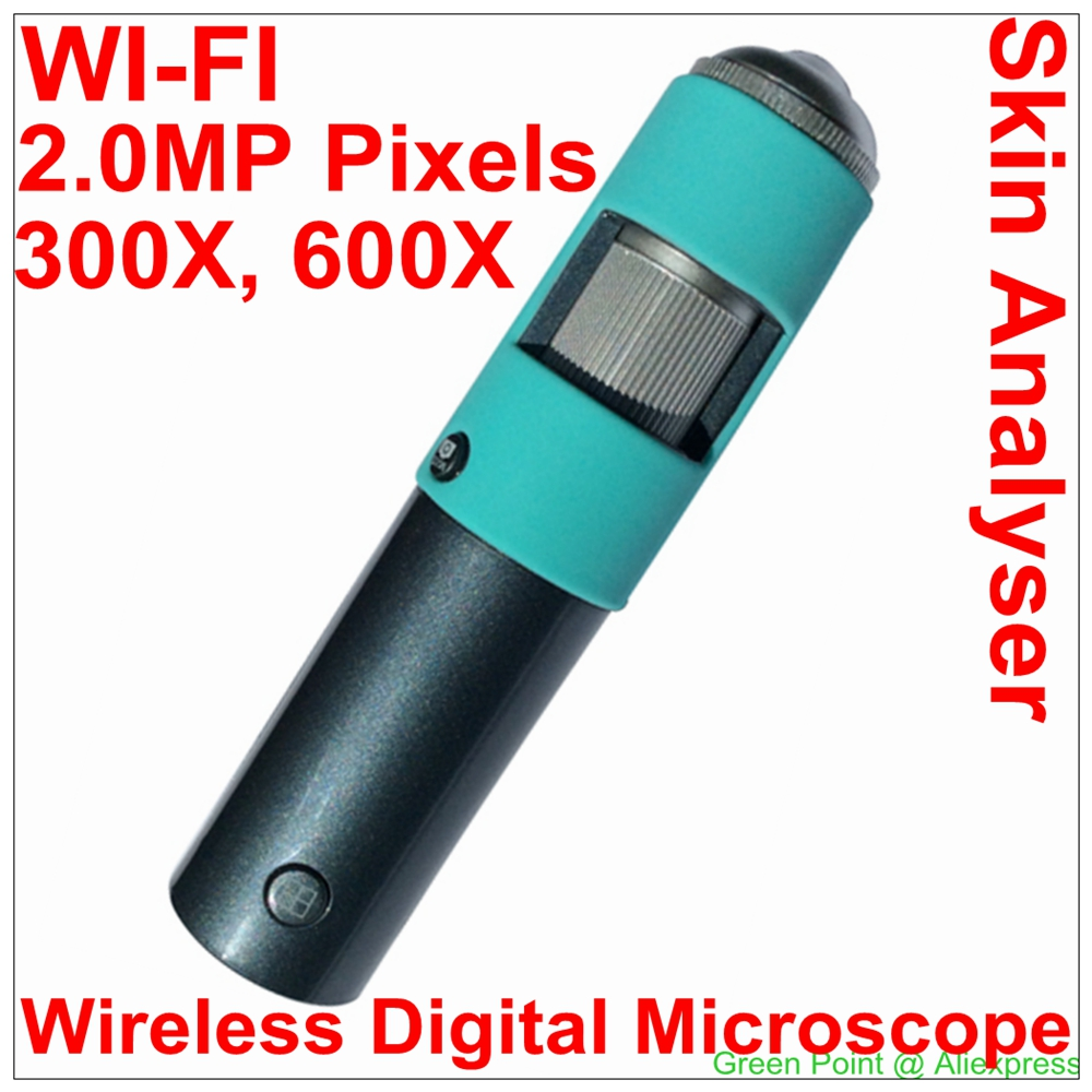 New Wireless WiFi Digital Microscope Skin Analyser With 2.0M Camera 720P HD With 600x Zoom for ISO/ Windows/ Android/ TV(China (Mainland))