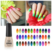 Elite99 7ml Temperature Mood Color Changing Gel Nail Polish Long Lasting Soak Off Led UV Gel Lacquer Perfect Effect(China (Mainland))