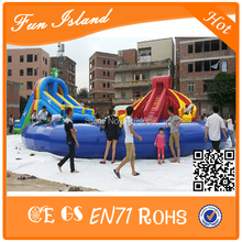 Commercial Inflatable water slide with water pool for rental business,big inflatable slide (China (Mainland))