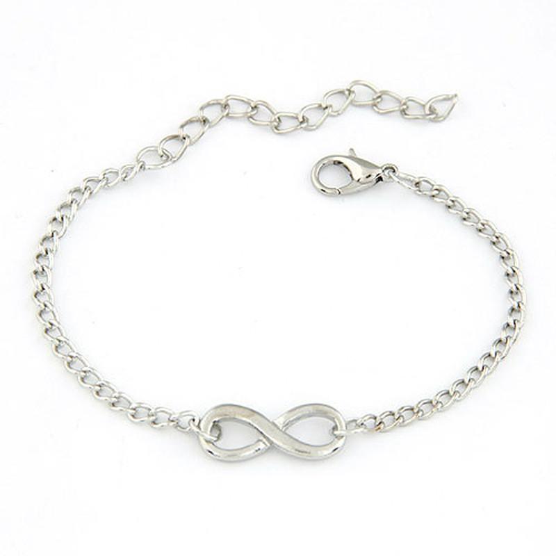 New 2015 Bijoux Fashion Vintage Infinity 8 Bracelet For Women Bracelets Gift Wholesale Bangles Men Jewelry