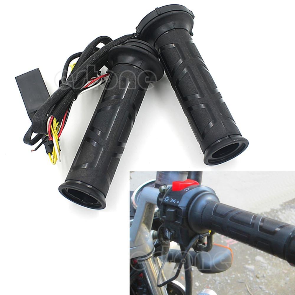 """Гаджет  Free Shipping 7/8"""" 22mm Motorcycle Electric Hot Heated Molded Grip Handle Handlebar Warmer Kit None Автомобили и Мотоциклы"""