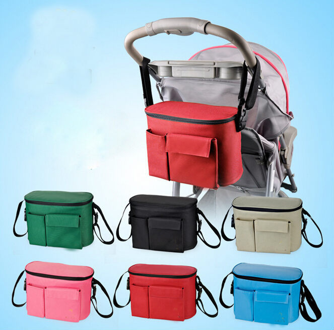 pram baby carriages Messenger Diapers bag for mom hanging organizer bottle Thermal Mother Nappy accessories for stroller bags(China (Mainland))