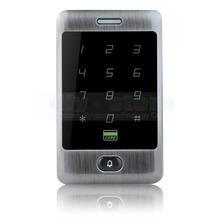 Porta campana button 125 khz rfid card reader touch panel retroilluminazione cassa del metallo tastiera password per sistema di controllo accessi kit(China (Mainland))