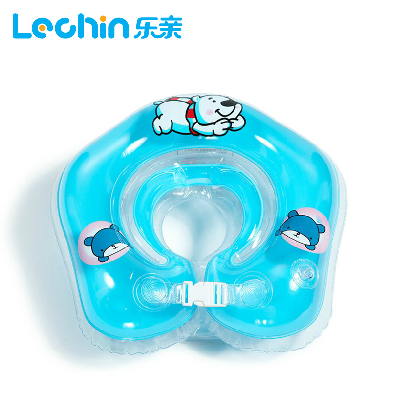 collar inflatable swim ring baby neck float baby swim pool accessory swimming ring inflatable circle baby neck ring(China (Mainland))