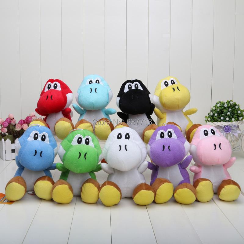 Super Mario 7inch 9 colors Super Mario Bros Goomba with Tanooki Tail Plush Doll yoshi multicolor(China (Mainland))