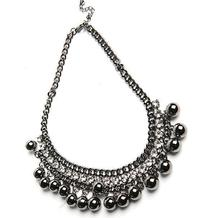 Hello Kitty +Mix Order N4003  fashion sexy black charm quality sphere rhinestone necklace,Punk style necklace(China (Mainland))